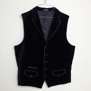 Express Men's Vest Solid Velvet Like Medium M NEW